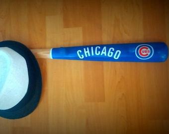Chicago Cubs Baseball Bat Coat and Hat Rack