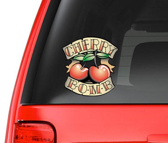 Cherry bomb tattoo art design full color vinyl decal for for Cherry bomb tattoo parlor perth