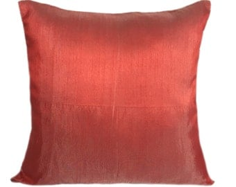 Solid Poppy Red Pillows Plain Poppy Red Pillow Solid Poppy Red Decorative Pillow Poppy Red Accent Pillow Poppy Red Pillow Covers