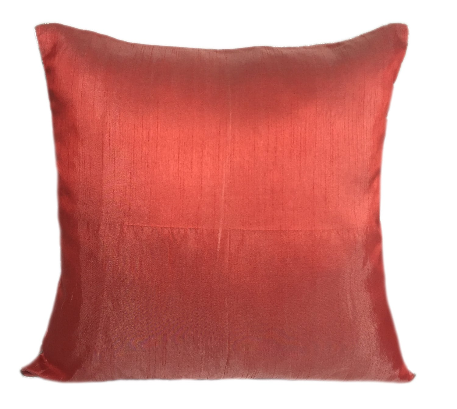 Set Of 2 Solid Poppy Red Pillows Plain Poppy Red Pillow Solid