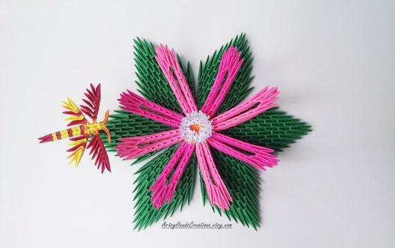 3d origami fleur de lotus fleur origami 3d 3d origami lily. Black Bedroom Furniture Sets. Home Design Ideas