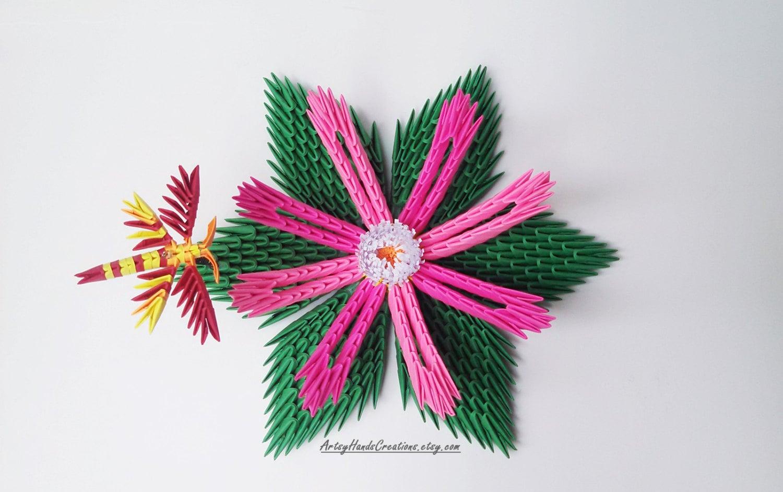 3d Origami Lotus Flower 3d Origami Flower 3d Origami Lily - photo#27