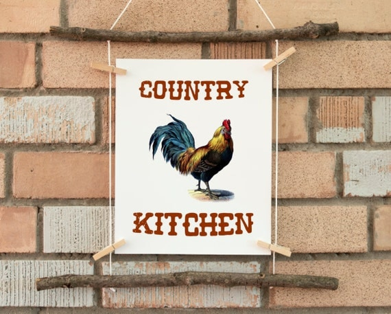 country kitchen print wall art print kitchen by printablelifestyle. Black Bedroom Furniture Sets. Home Design Ideas