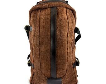 Hemp backpack Natural Brown