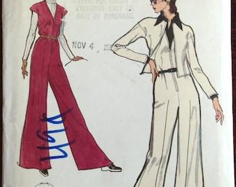 Vogue 8428 - Front Zip Jumpsuit with Drop Shoulder Jacket - Size 12 Bust 34