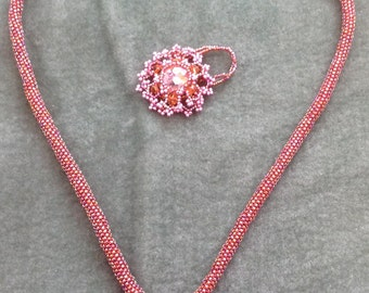 Picot Pendant Necklace and Ring