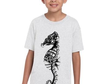 Boys Steampunk Seahorse Shirt  8000B