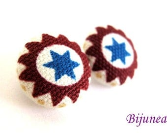 Star earrings - Blue Star studs - Star sky- Stars - Cute Star earrings - Star post earrings - Star stud earrings sf436