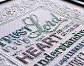 Trust in the Lord   Cross-Stitch Pattern