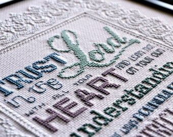 Trust in the Lord | Cross-Stitch Pattern