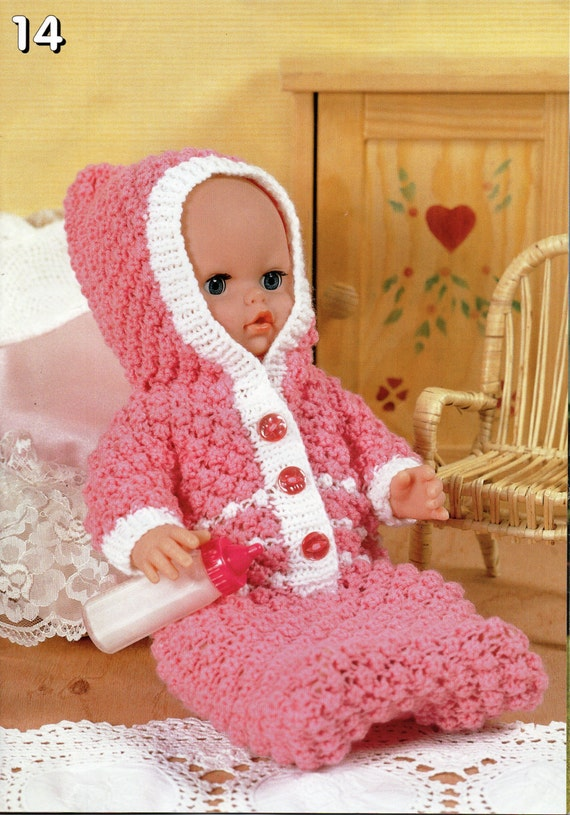 Knitting Pattern For Baby Grow Bag : baby dolls clothes knitting pattern dolls sleeping bag with hood growbag baby...