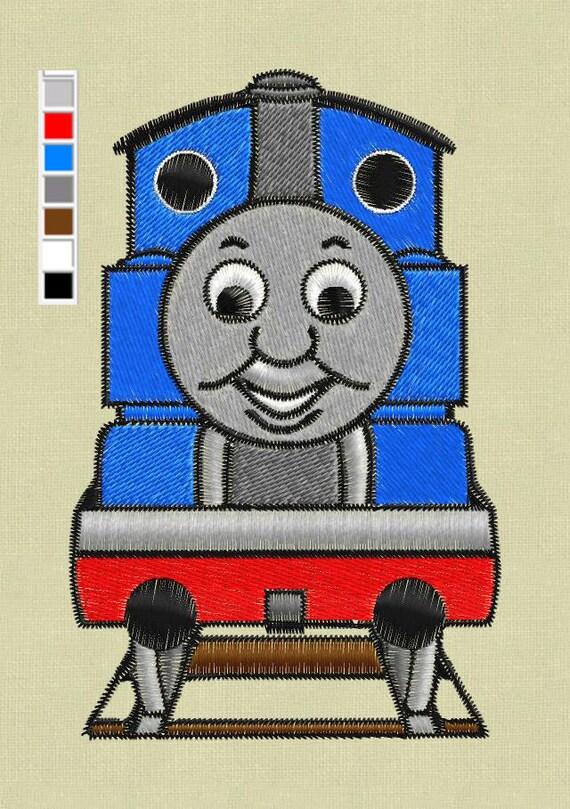Embroidery Design Thomas The Train 4x4 Digital Pes Hus