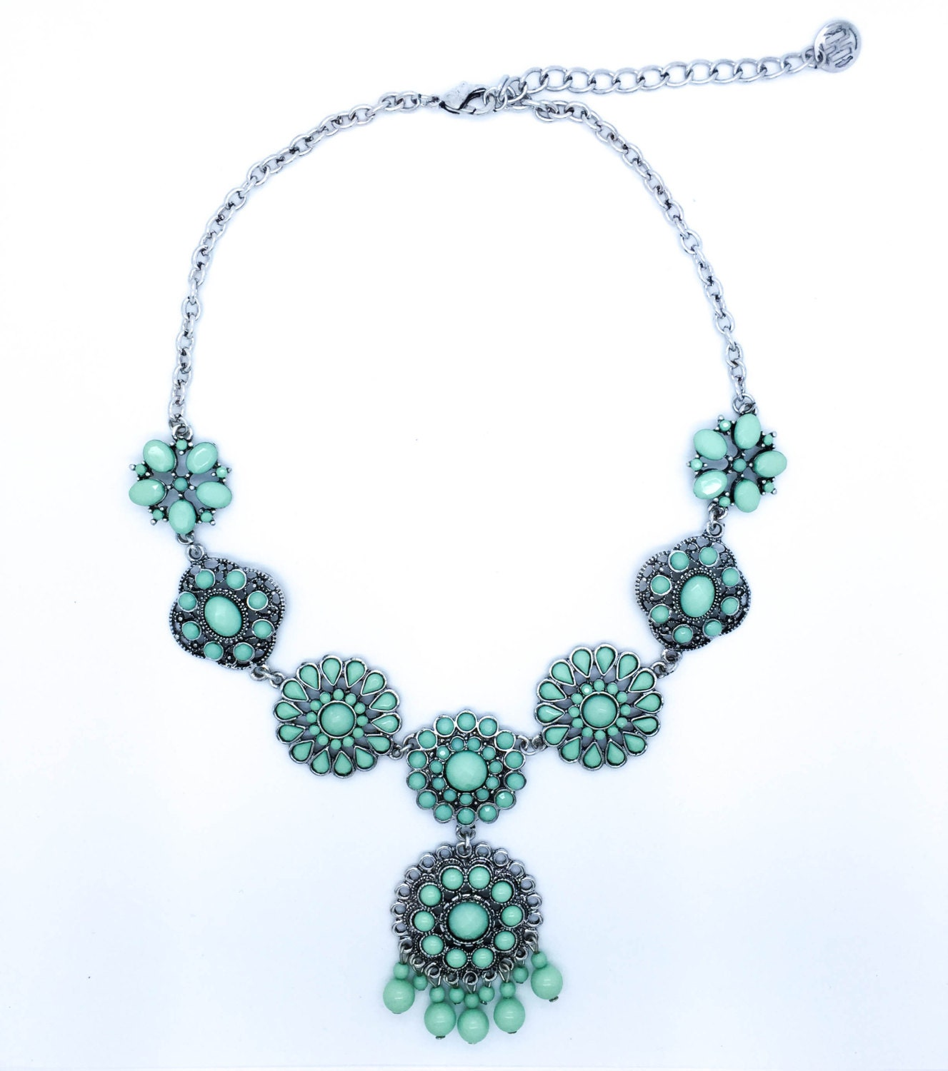 green mint statement necklace bib necklace by cetro