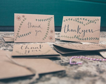 Thank You Card (Flowers and Branches)