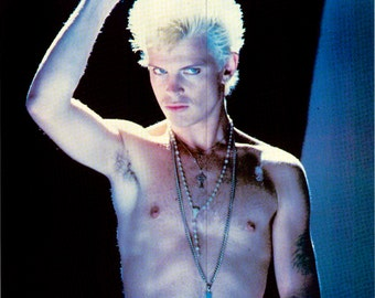 Billy Idol 1980's Poster - Pace Minerva Poster - Printed in Scotland