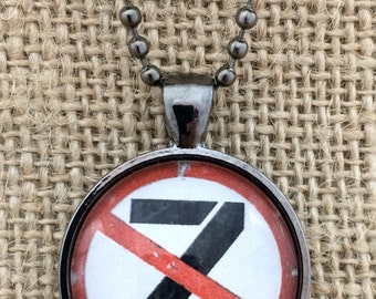 No Zombies Glass Pendant Necklace with Chain