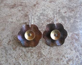 copper/brass daisy dangle