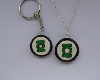 Green Lantern Keyring or Necklace