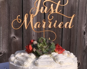 Just Married - Wedding Cake Topper