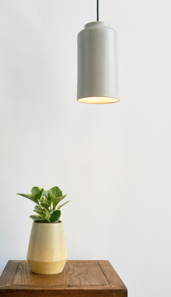 Cylinder Pendant Light By MenkeCeramics On Etsy