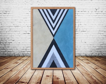 Acrylic Painting - Canvas Art - Large Painting - Abstract Paintings - Geometric Art - Abstract Wall Art