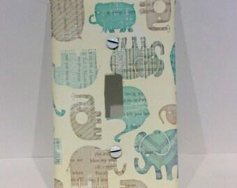 Elephant Light Switch Cover, Elephant Nursery, Animal Nursery, Modern Nursey, Safari Nursery, Wall Plate, Outlet Cover, Elephant, Baby Boy