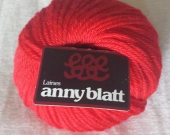Laines Anny Blatt Yarn Color Rouge 507 - 100% Pure Wool