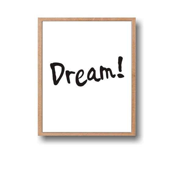 Instant DownloadDream QuoteInspirational QuoteWall By Paffle