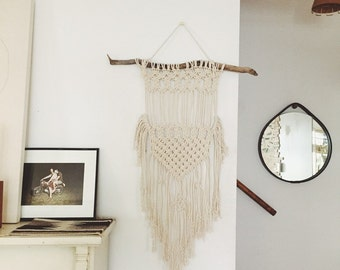 macrame wall hanging kit diy macrame kit wall hanging by macramemodern on etsy 7948