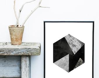Printable Art, Abstract Art, Minimalist Art,  Scandinavian Design, Monochrome, Geometric Art, Abstract Wall Art, Modern Art Print