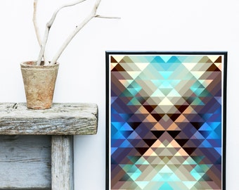 Instant Download Printable Art, Geometric Print, Geometric Art, Geometric Wall Art, Abstract Art Print, Home Decor, Wall Decor, Wall Print