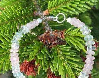 AA+ Morganite & Aquamarine Bracelet