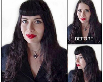 50's Pin-up Girl Clip on Bangs / Fringes