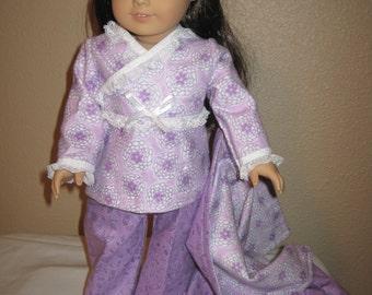 18 inch doll clothes - American Doll -  handmade   4Pc Pajama Set