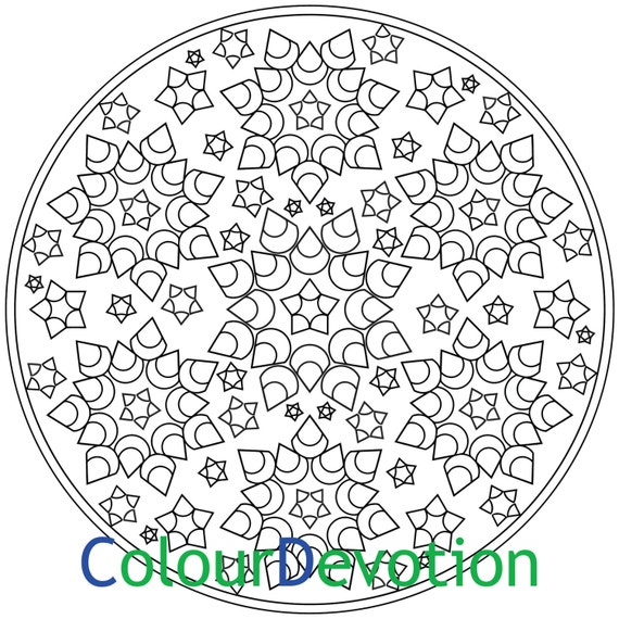 snowflake flowers pattern mandala coloring page colouring for