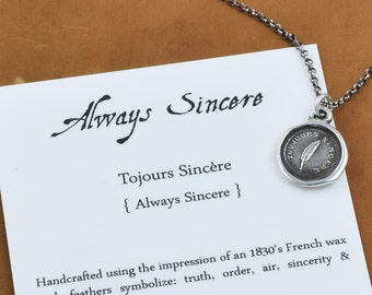 Always Sincere - Victorian Whimsy Wax Seal Necklace - 328