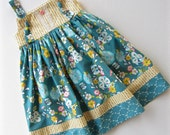SALE Size 5T Floral Floats Knot Dress Ready To Ship Handcrafted by Valeriya