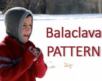 Balaclava Helmet Hat Recycled Sweater Sewing Pattern pdf