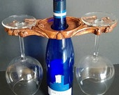 Victorian Wine Caddy/Wooden Wine Caddy/Wine Glass Holder/Wine Rack/Wine Accessories/WIne Gifts