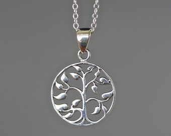 Tree of Life Necklace - Silver Tree of Life Pendant - Judaica Jewelry - Tree of Life Jewelry - Bat Mitzvah Jewelry - Wedding Jewelry - Gift