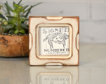 3x3 inch Square Photo Picture Frame in Shallow Bones style and in Finish COLOR of YOUR CHOICE - 3x3 Photo Frame