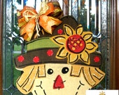 Burlap Scarecrow Door Hanging