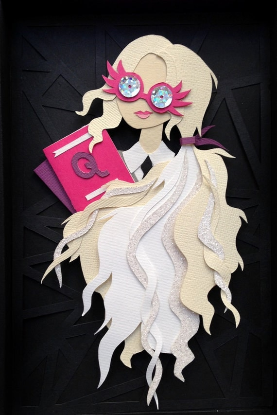 Luna Lovegood Spectrespecs, Harry Potter, Paper Cut, Collage, Paper Craft, Luna Lovegood glasses