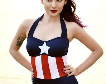 Captain America swimsuit