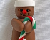 Personalized Christmas Ornaments ~ Gingerbread Ornament ~ Cute Gingerbread Ornament in Polymer Clay by Classon Creations