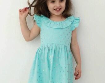 Girls PDF dress pattern, My Ellabella, Sizes 0 - 8, instant download