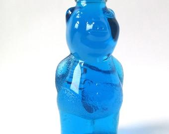 Vintage Piggy Bank Bottle, collectible glass bottle, 1970s