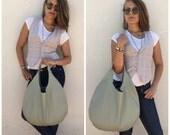 Free shipping/Hobo leather bag/Green leather bag/ Nappa leather bag/Everyday bag/Light sage green/By Lara Klass bag
