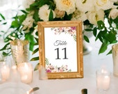 Floral Table Numbers (Printable) DIY by Vintage Sweet