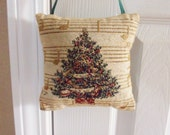 Mini Christmas Tree Pillow,  Small Christmas Door Knob Pillow, Holiday Hanging Pillow